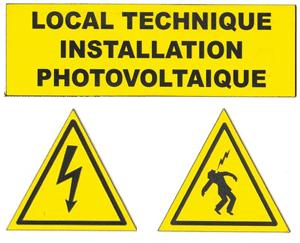 3 plaques danger lectrique local technique homme foudroy for Local technique electrique
